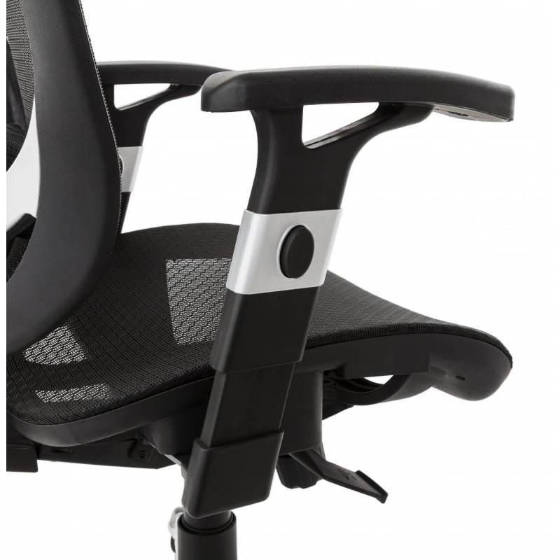 Fauteuil de bureau design et moderne ergonomique AXEL en tissu (noir) - image 28321