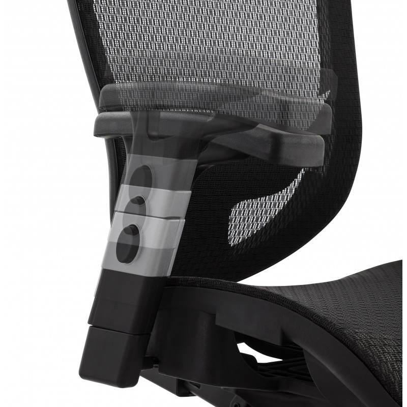 Fauteuil de bureau design et moderne ergonomique AXEL en tissu (noir) - image 28322