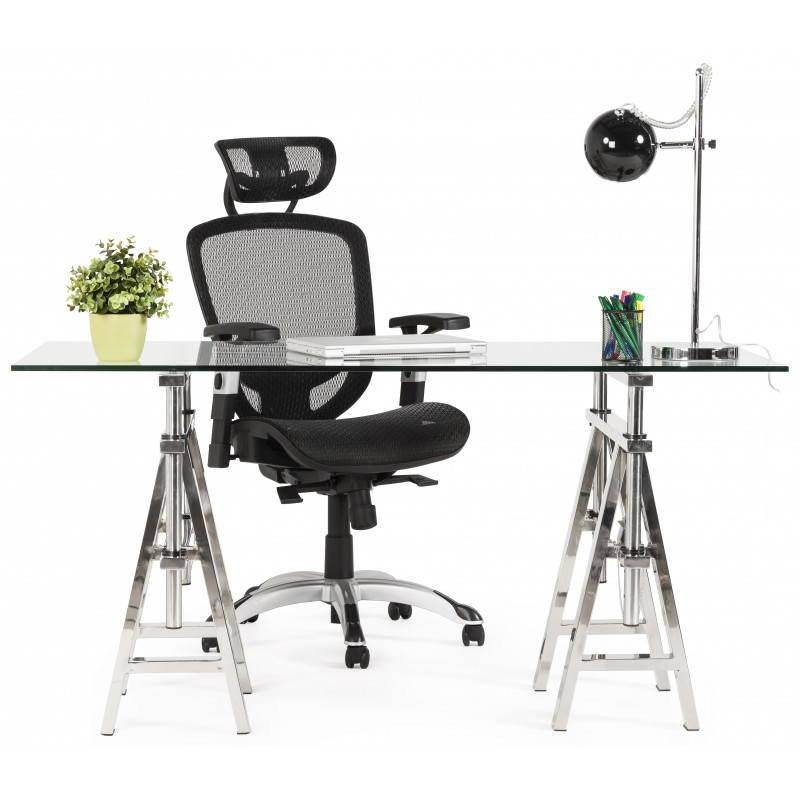 Fauteuil de bureau design et moderne ergonomique AXEL en tissu (noir) - image 28329