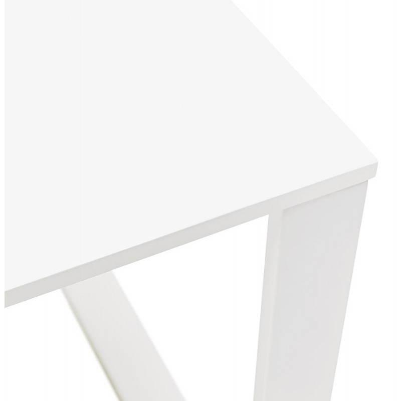 Bureau droit design ANTOUL en bois et métal (blanc brillant) - image 28349