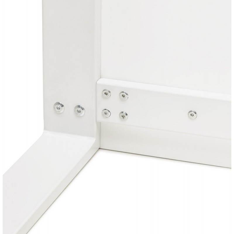 Bureau droit design ANTOUL en bois et métal (blanc brillant) - image 28355