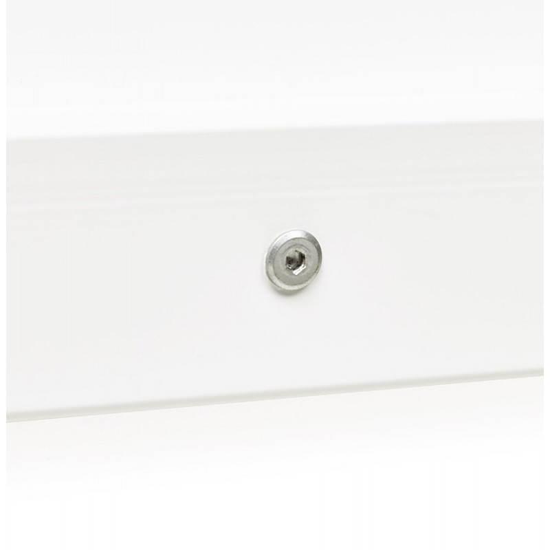 Bureau droit design ANTOUL en bois et métal (blanc brillant) - image 28356