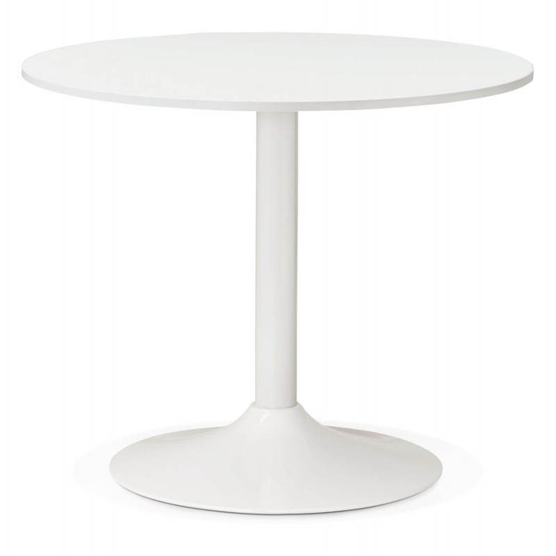 Table de repas ou bureau ronde design scandinave nils en for Table ronde design 90 cm