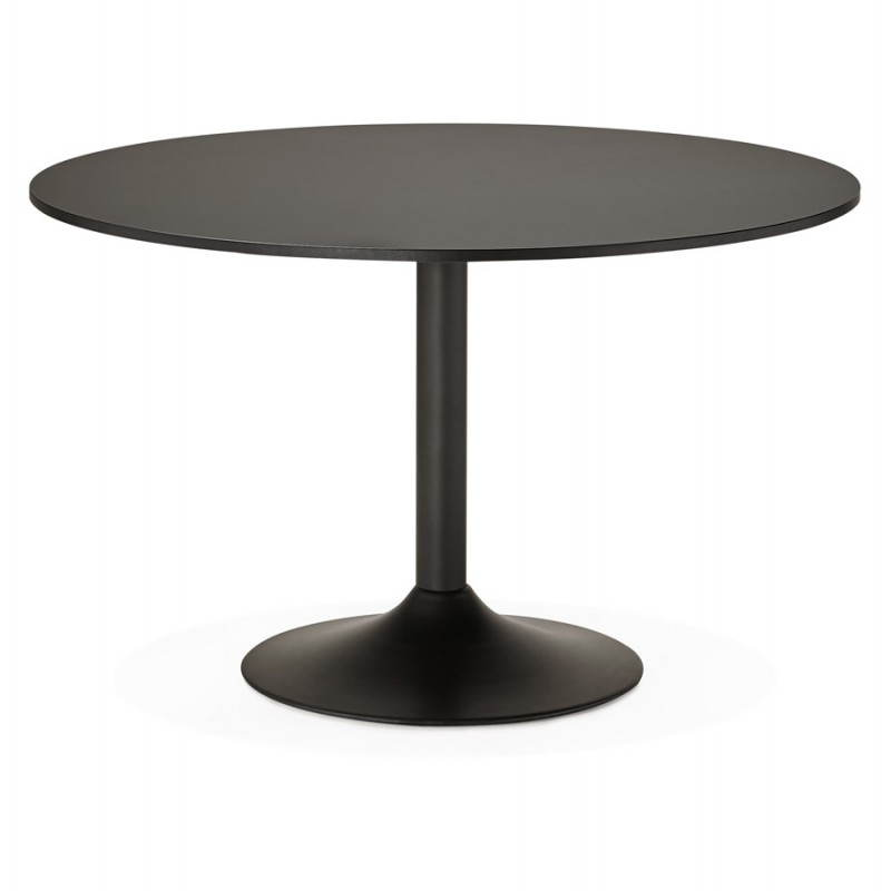 Office Table Or Round Design Meal ASTA In Wood And Metal Painted Ø - Black round office table