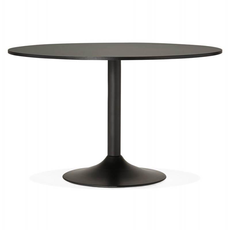 Table de bureau ou repas design ronde ASTA en bois et métal peint (Ø 120 cm) (noir) - image 28393