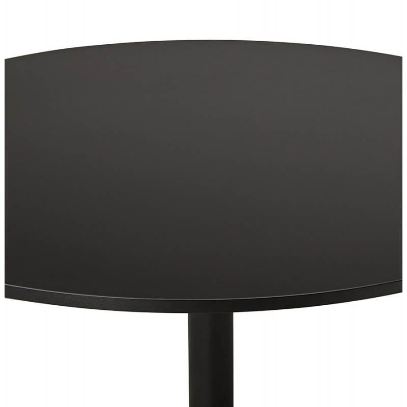 Table de bureau ou repas design ronde ASTA en bois et métal peint (Ø 120 cm) (noir) - image 28396