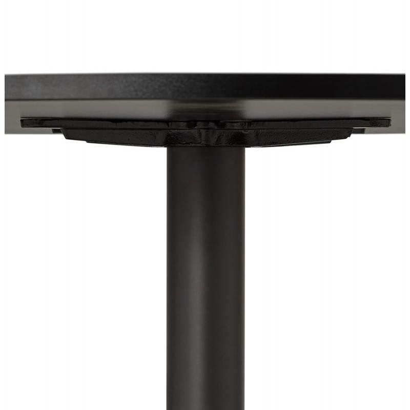 Table de bureau ou repas design ronde ASTA en bois et métal peint (Ø 120 cm) (noir) - image 28398