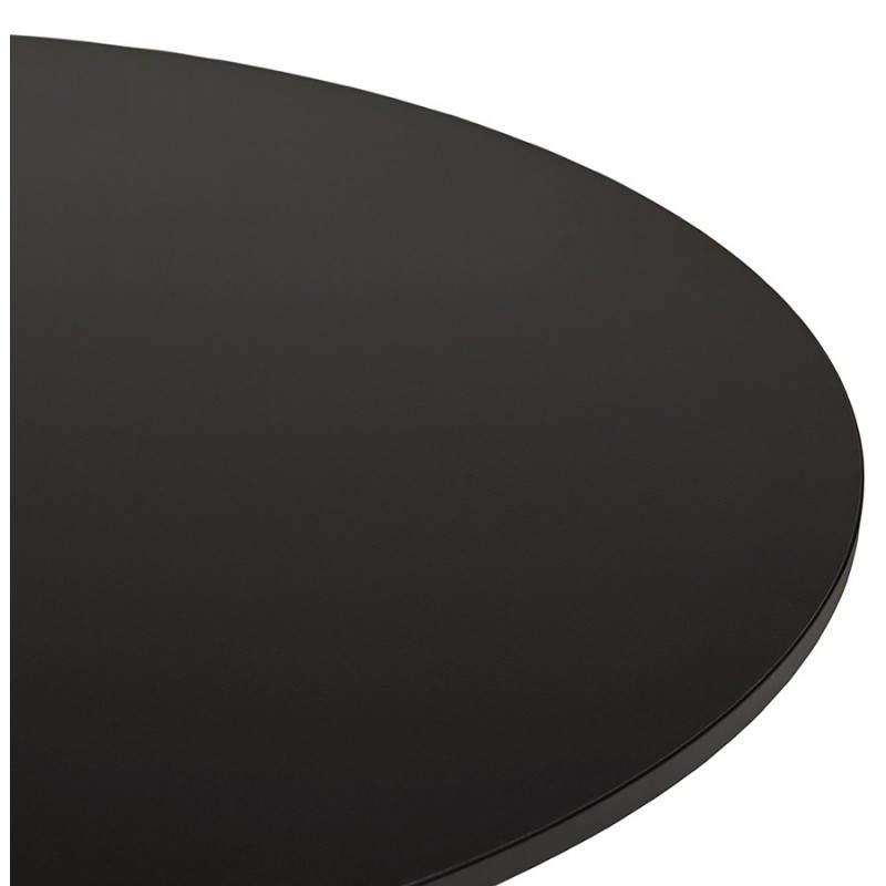 Mesa de comedor o escritorio diseño madera NILS y metal pintado (O 90 cm) (negro) - image 28405