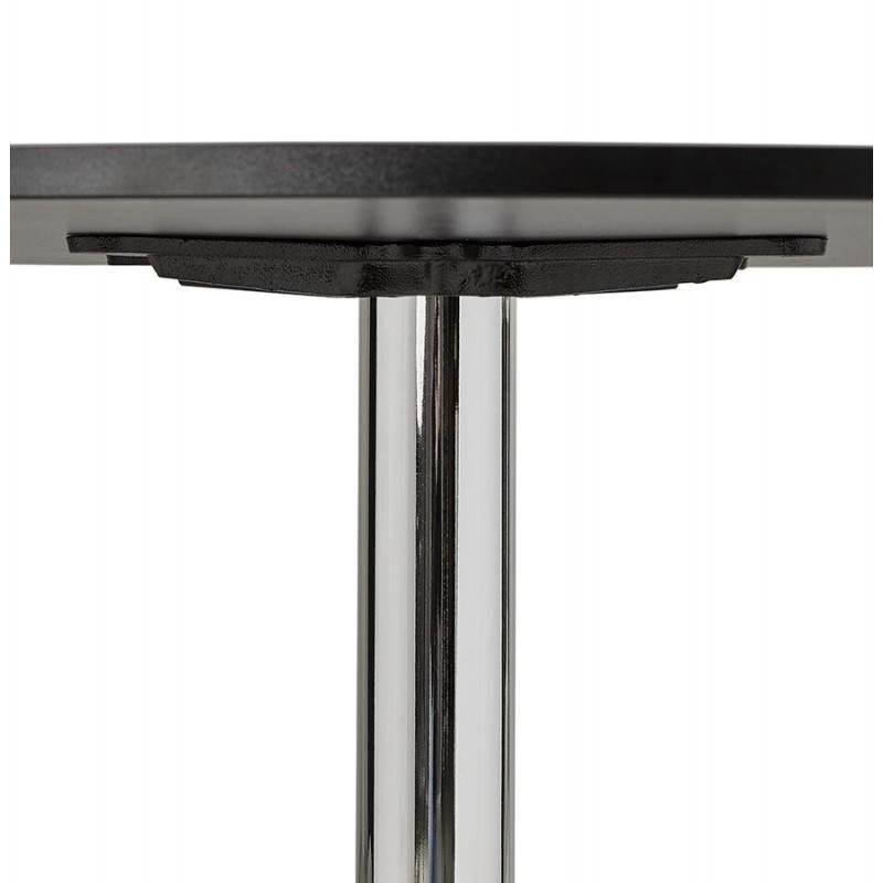 Table de bureau ou repas design ronde ASTA en bois et métal chromé (Ø 120 cm) (noir) - image 28441