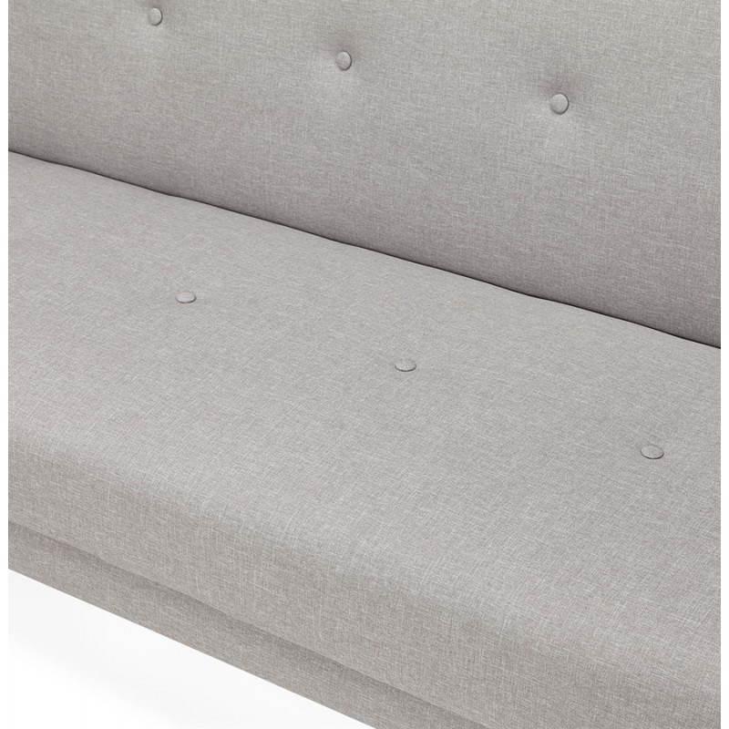 Canapé convertible scandinave capitonné 3 places URSULA en tissu (gris) - image 28466