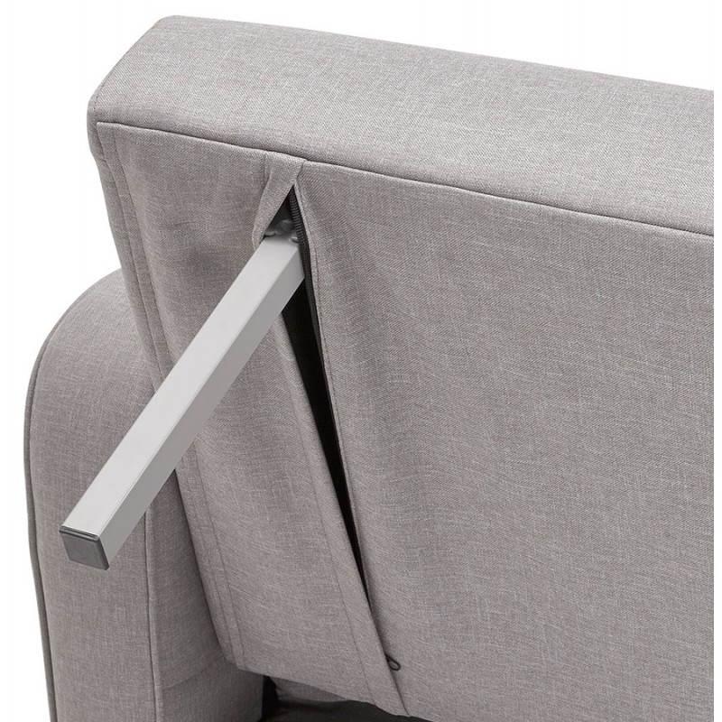Canapé convertible scandinave capitonné 3 places URSULA en tissu (gris) - image 28472