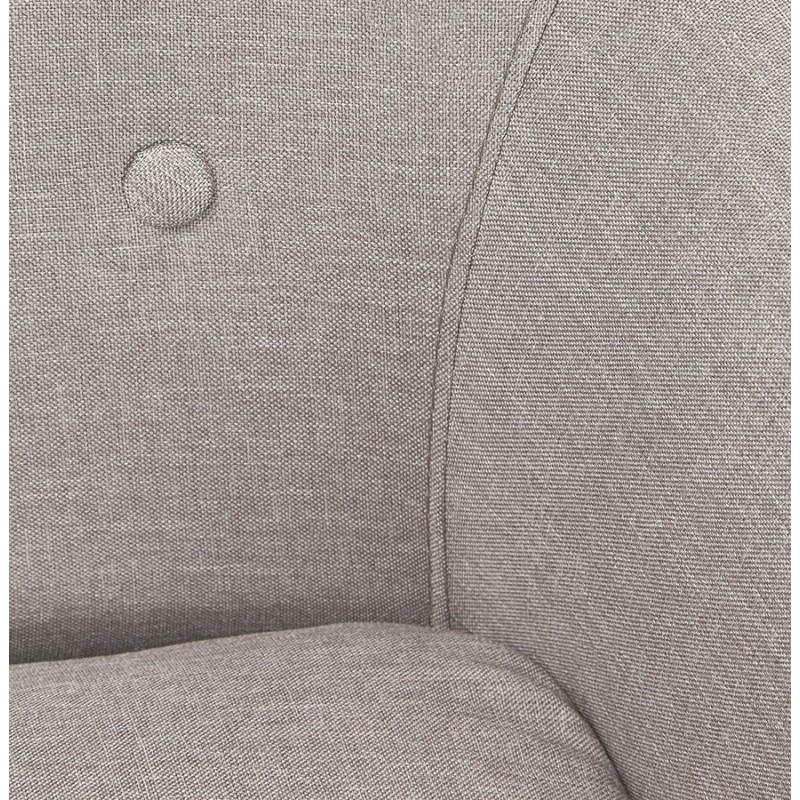 Canapé fixe scandinave capitonné 3 places LUCIA en tissu (gris) - image 28490
