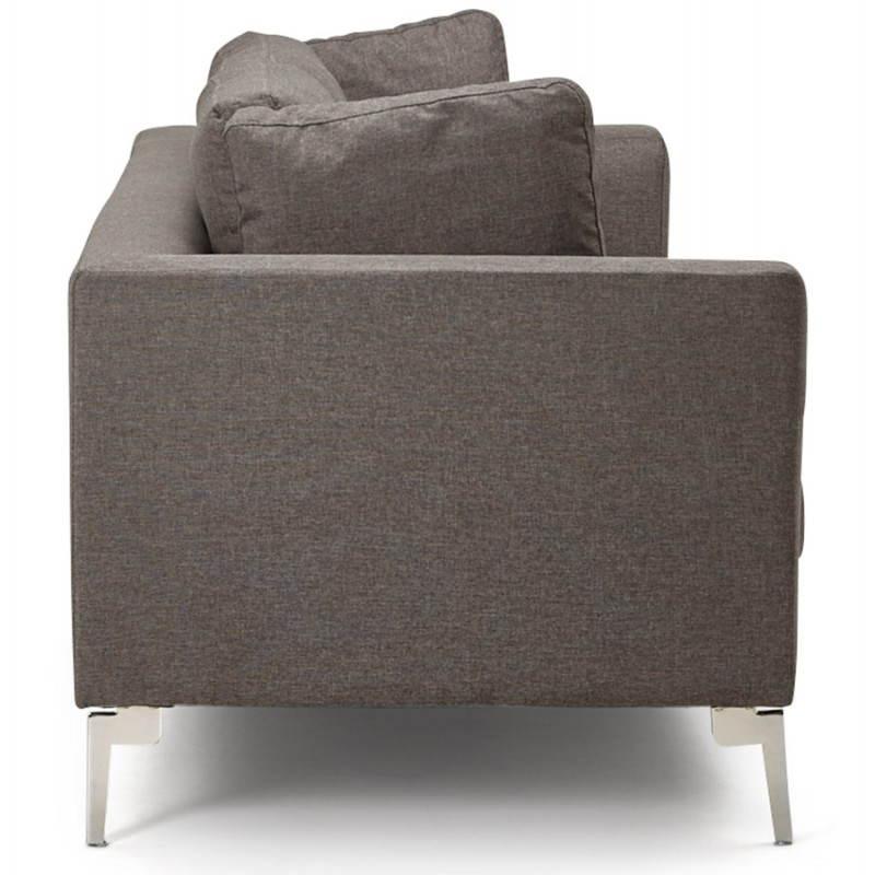 Moderno sofá fijo 3 lugares a tela de IRINA (gris oscuro) - image 28506