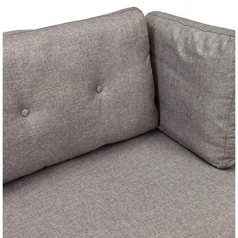 Moderno sofá fijo 3 lugares a tela de IRINA (gris oscuro) - image 28510
