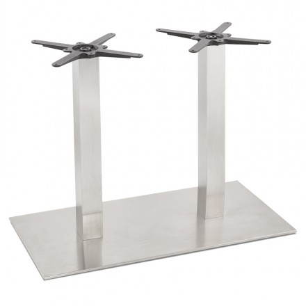 Double foot of table RAMBOU brushed steel (50cmX100cmX73cm)