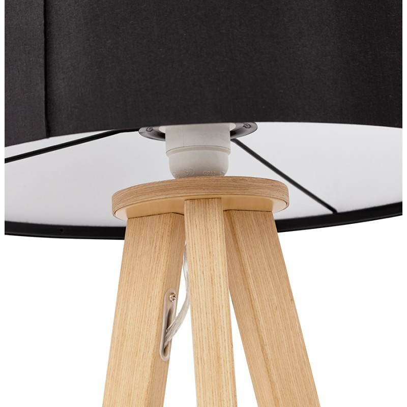 Lampe de table sur trépied scandinave TRANI MINI  (noir) - image 28543
