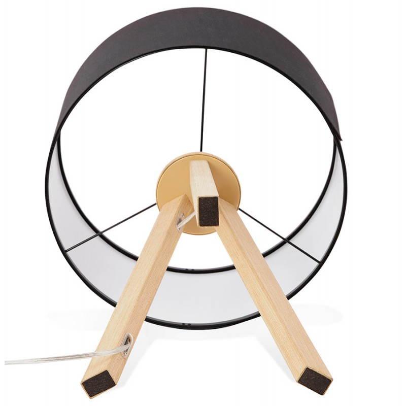 Lampe de table sur trépied scandinave TRANI MINI  (noir) - image 28545