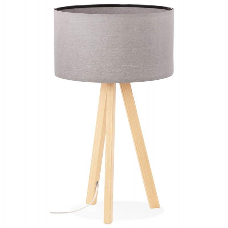 Lampe de table TRANI MINI sur trépied avec abat jour (gris) - image 28549