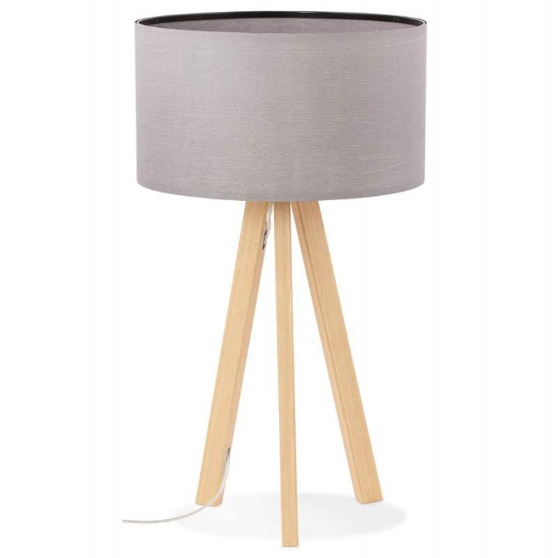 Lampe de table TRANI MINI sur trépied avec abat jour (gris) - image 28550