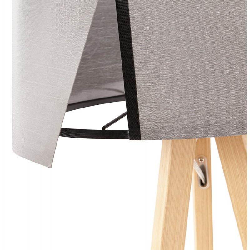 Lampe de table TRANI MINI sur trépied avec abat jour (gris) - image 28554