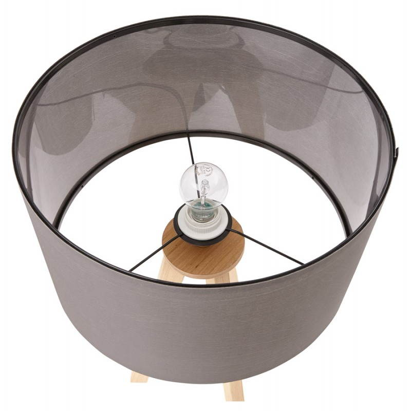 Lampe de table TRANI MINI sur trépied avec abat jour (gris) - image 28555