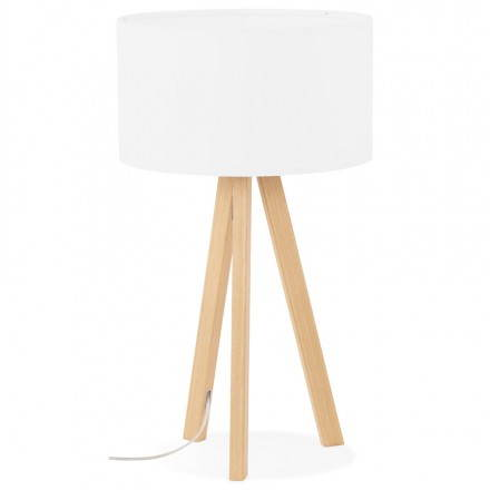 Lampe de table sur trépied scandinave TRANI MINI  (blanc)