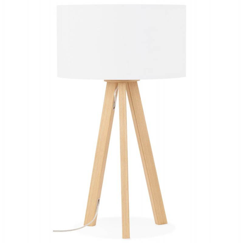 lampada da tavolo su treppiede scandinavo trani mini bianco. Black Bedroom Furniture Sets. Home Design Ideas