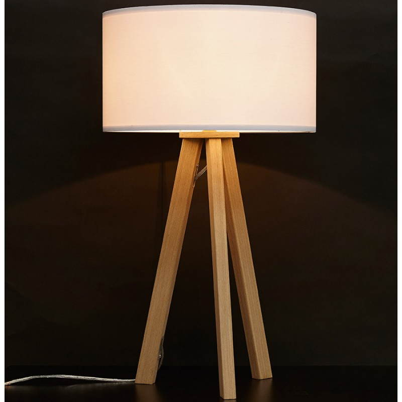 lampe de table sur tr pied scandinave trani mini blanc. Black Bedroom Furniture Sets. Home Design Ideas
