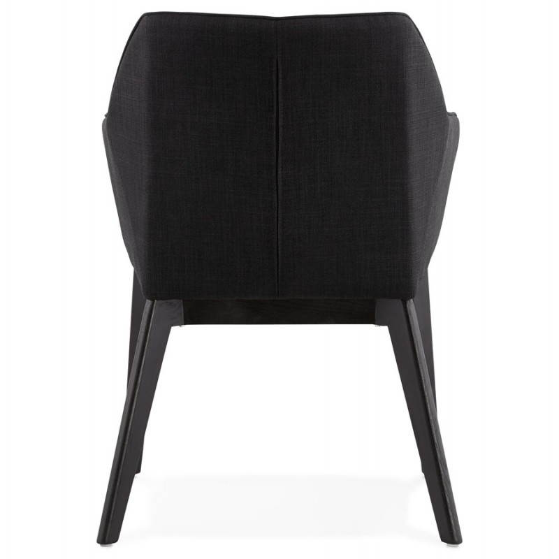 Design and modern Chair with armrests ANTONELA (black) fabric - image 28602