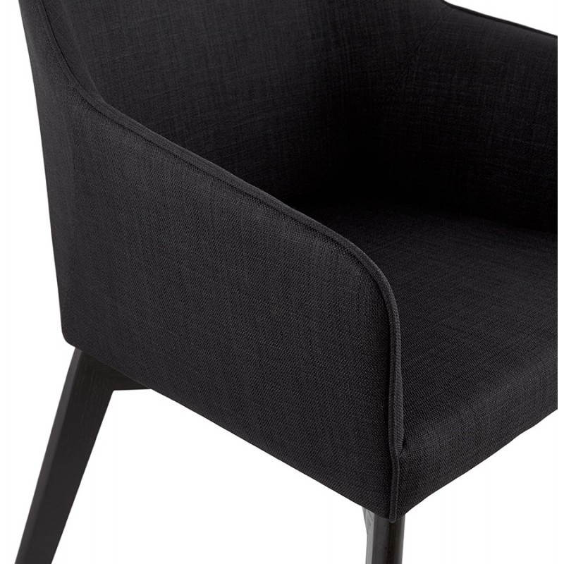 Design and modern Chair with armrests ANTONELA (black) fabric - image 28603