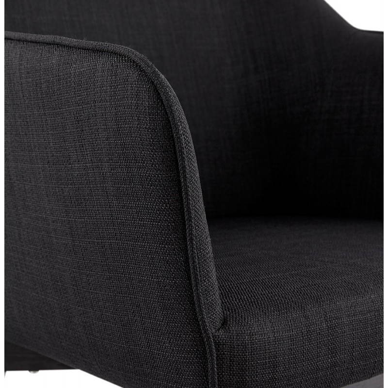 Design and modern Chair with armrests ANTONELA (black) fabric - image 28604
