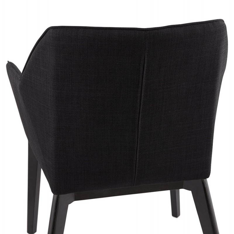 Design and modern Chair with armrests ANTONELA (black) fabric - image 28606