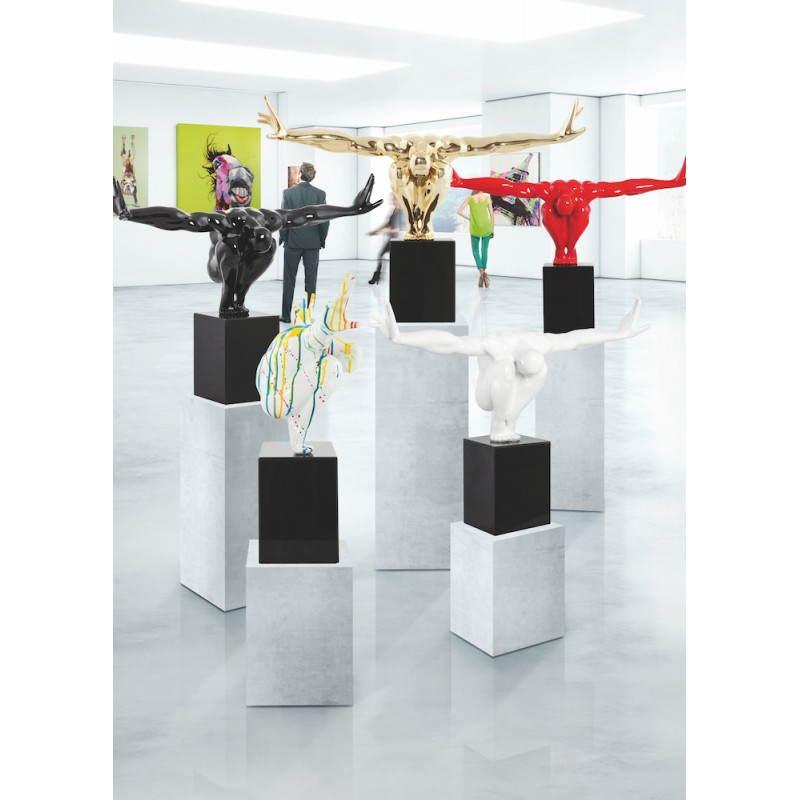 Statua forma nuotatore BANCO in fibra di vetro (oro) - image 28622