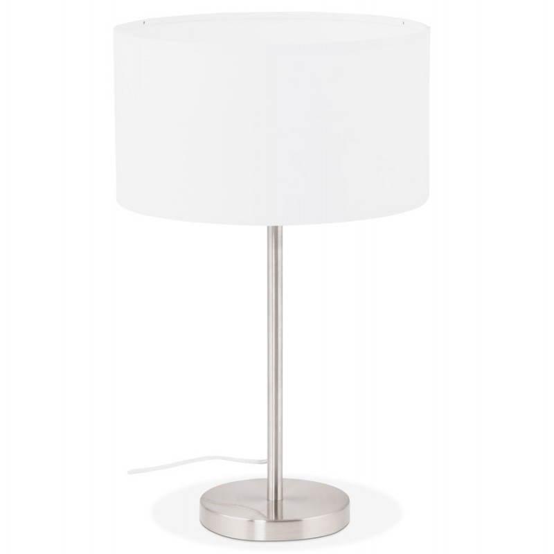 Lampe de table design réglable en hauteur LATIUM en tissu (blanc) - image 28683