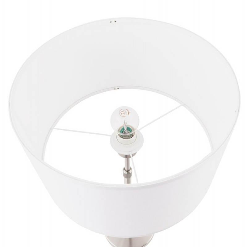 Lampe de table design réglable en hauteur LATIUM en tissu (blanc) - image 28687