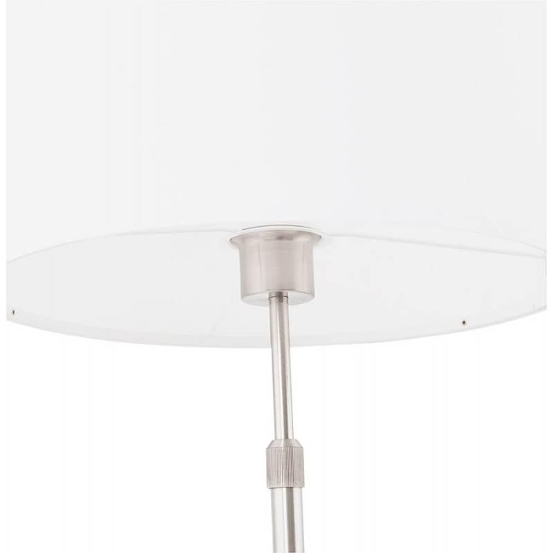 Lampe de table design réglable en hauteur LATIUM en tissu (blanc) - image 28690