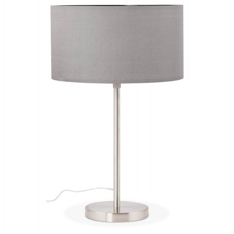 lampe de table design r glable en hauteur latium en tissu gris. Black Bedroom Furniture Sets. Home Design Ideas