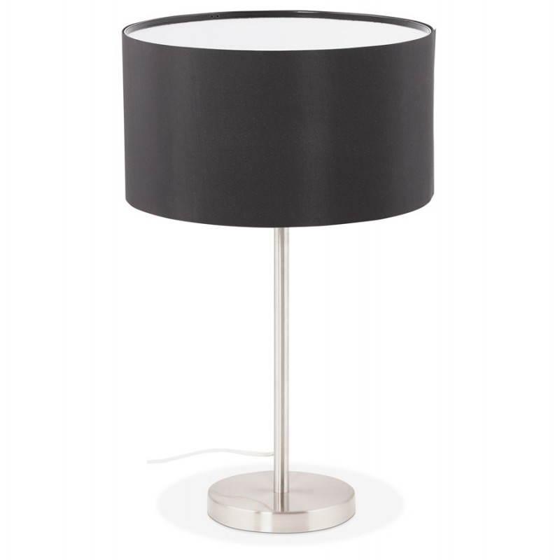 Lampe de table design réglable en hauteur LATIUM en tissu (noir) - image 28708