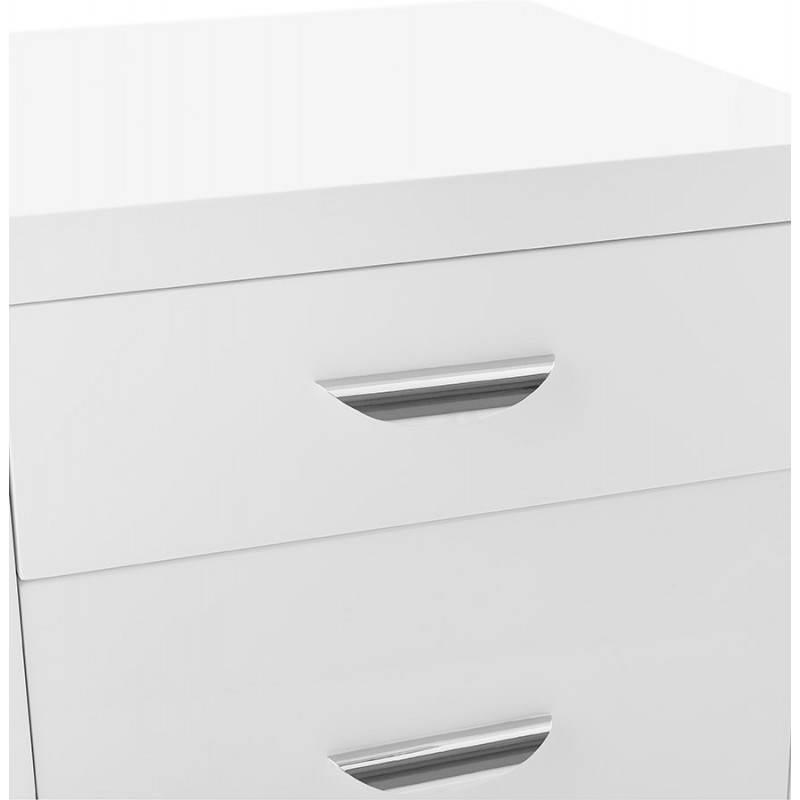 Caisson de bureau 2 tiroirs FOREST en bois (blanc laqué) - image 28739