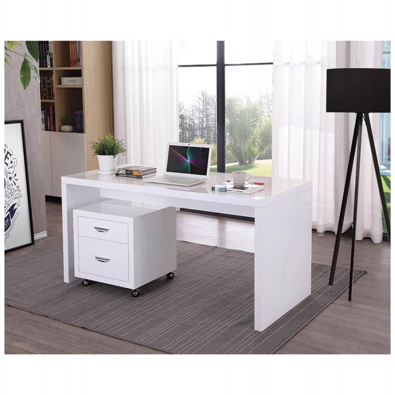 Caisson de bureau 2 tiroirs FOREST en bois (blanc laqué) - image 28749