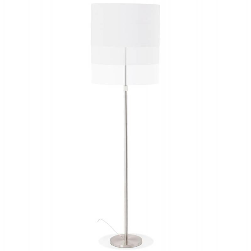 Lampe sur pied design réglable en hauteur LATIUM en tissu (blanc) - image 28797