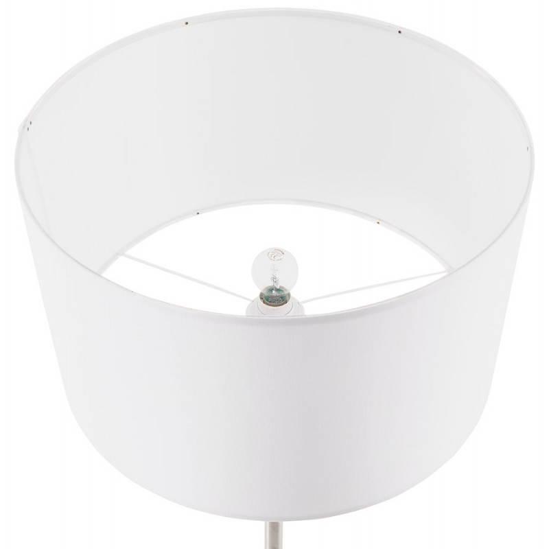 Lampe sur pied design réglable en hauteur LATIUM en tissu (blanc) - image 28800