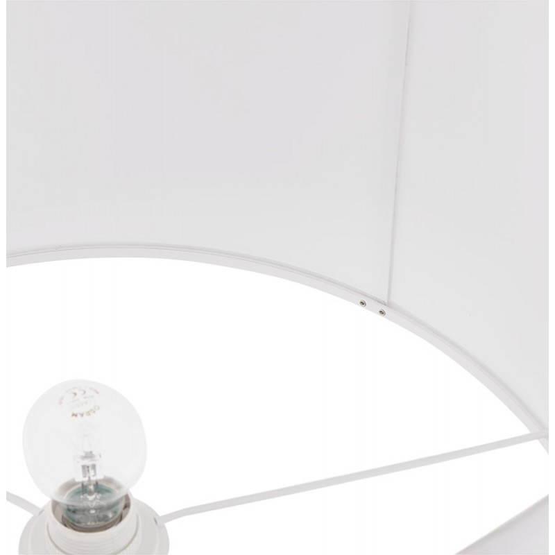 Lampe sur pied design réglable en hauteur LATIUM en tissu (blanc) - image 28801
