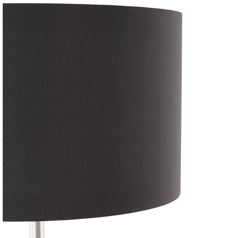 Lampe sur pied design réglable en hauteur LATIUM en tissu (noir) - image 28960