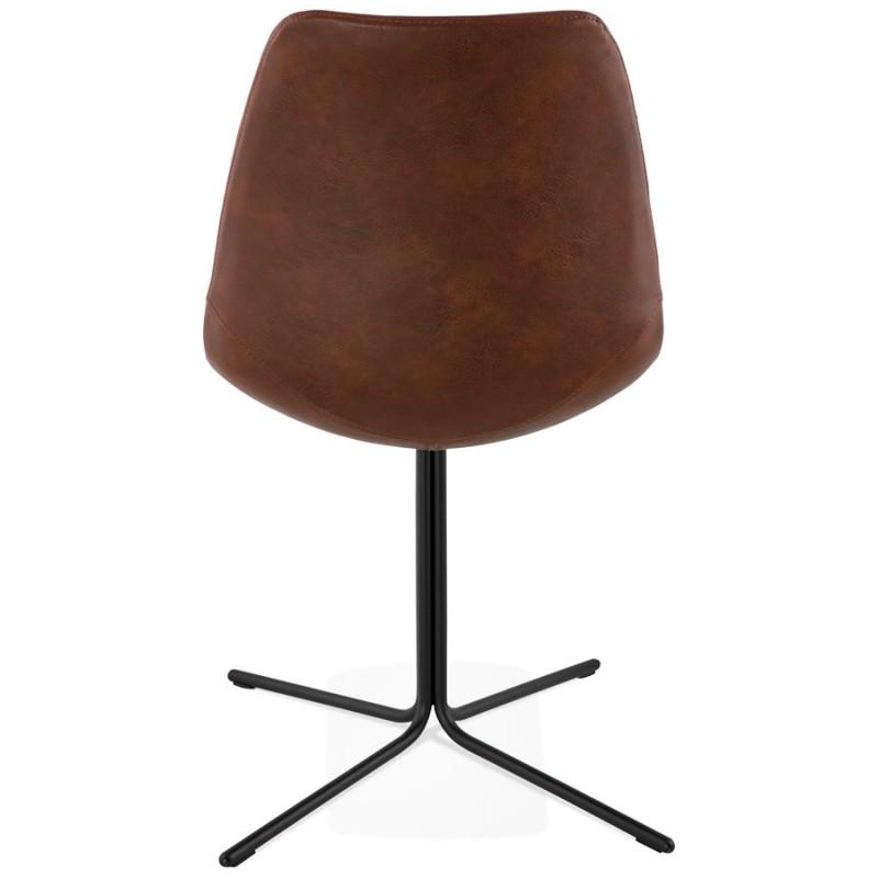 Chaise industrielle OFEN en polyuréthane et métal peint (marron, noir) - image 28997