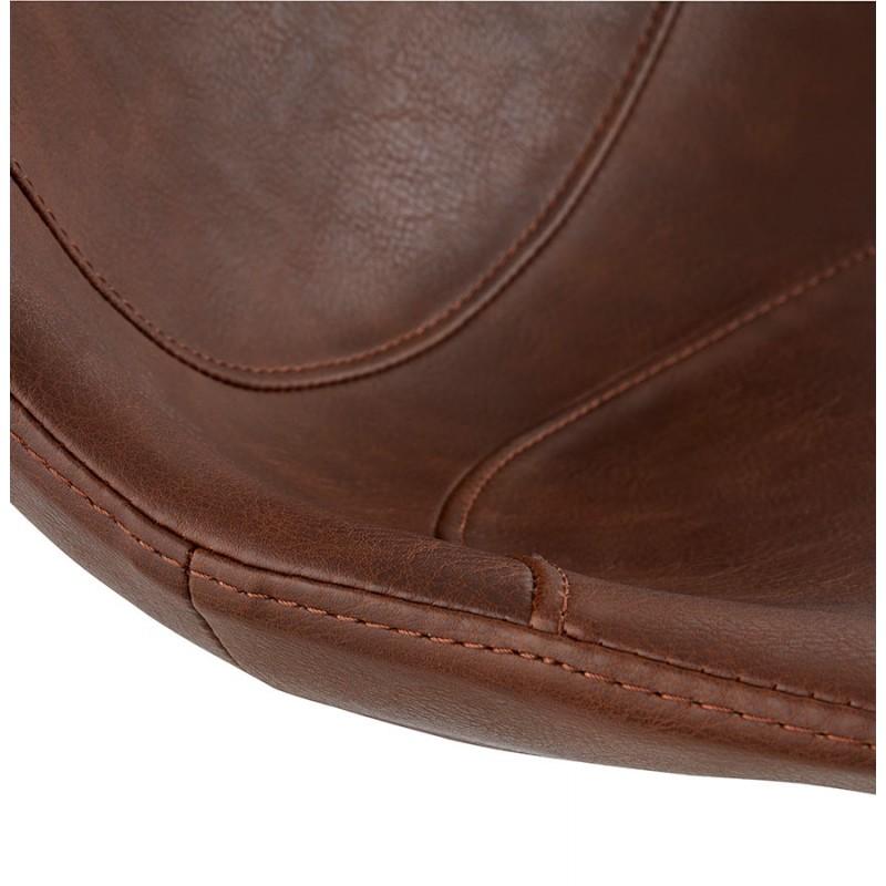 Chaise industrielle OFEN en polyuréthane et métal peint (marron, noir) - image 29000