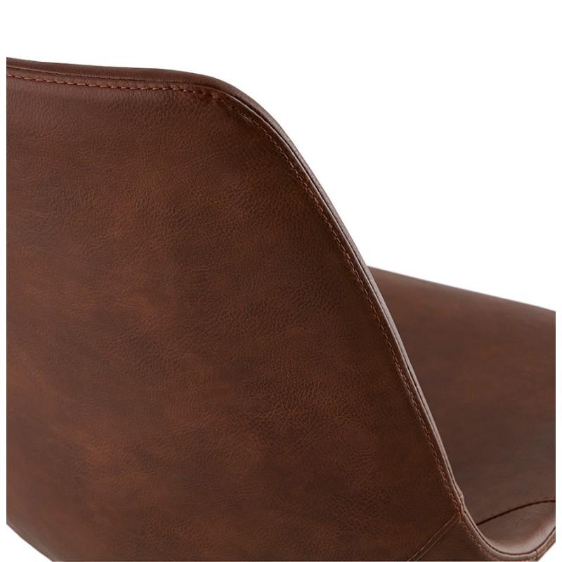 Chaise industrielle OFEN en polyuréthane et métal peint (marron, noir) - image 29003