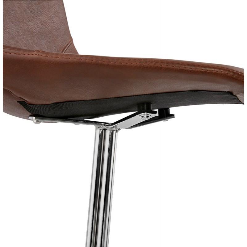 Chaise design OFEN en polyuréthane et métal chromé (marron, chrome) - image 29019