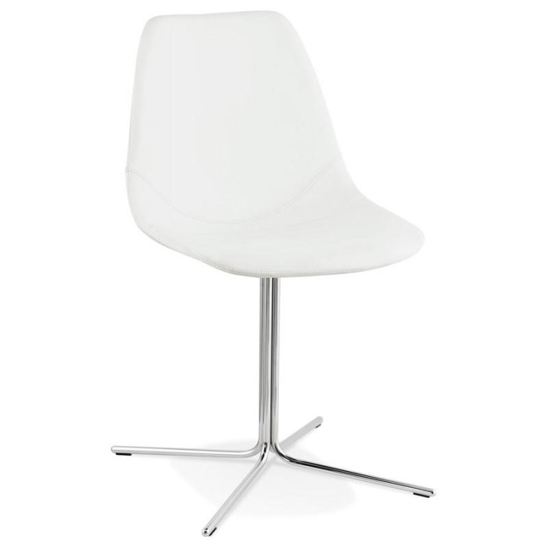 Chaise design OFEN en polyuréthane et métal chromé (blanc, chrome) - image 29024