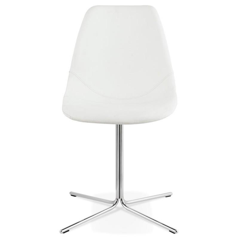Chaise design OFEN en polyuréthane et métal chromé (blanc, chrome) - image 29025